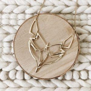 New Alexis Bittar Geometric Linked Bib Necklace